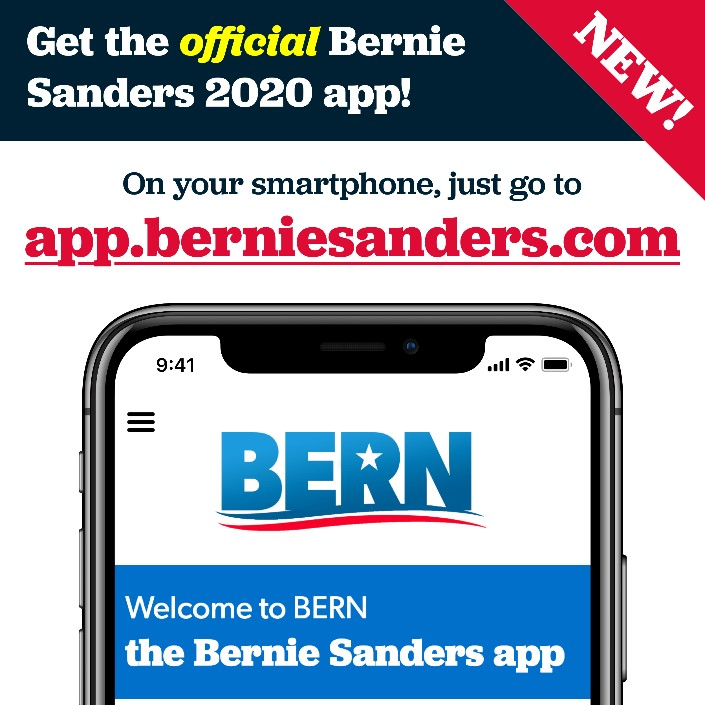 NEW: Get the official Bernie Sanders 2020 app 'Bern' from the ...