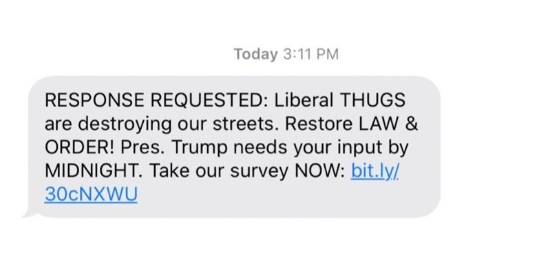 Politieke SMS-marketing in de Verenigde Staten