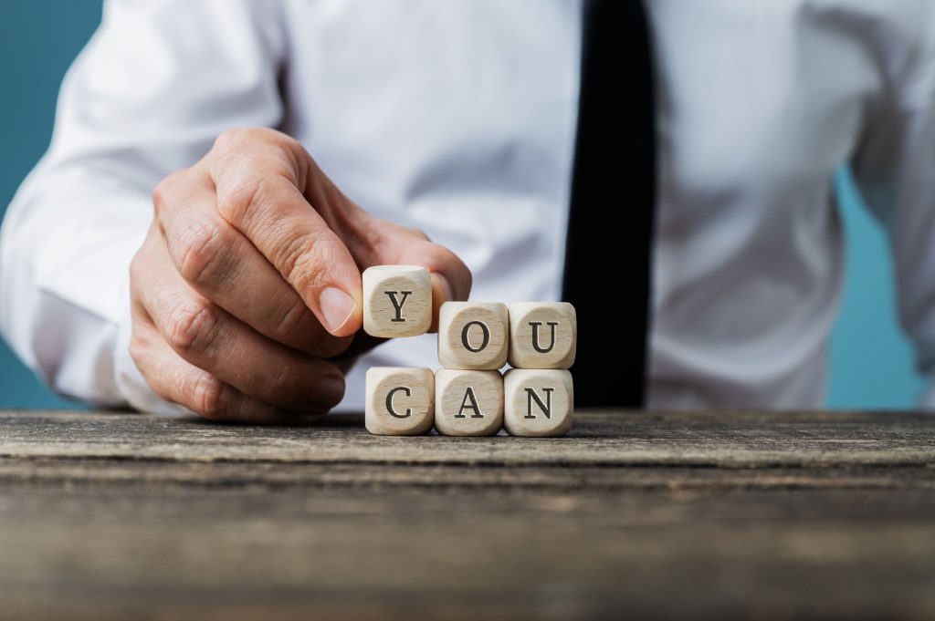 Afbeelding van motiverend signaal: Yes You Can!